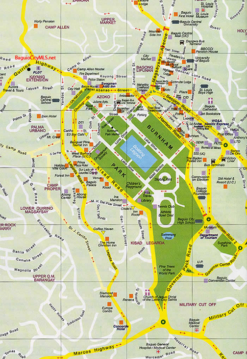 Map of Baguio Downtown
